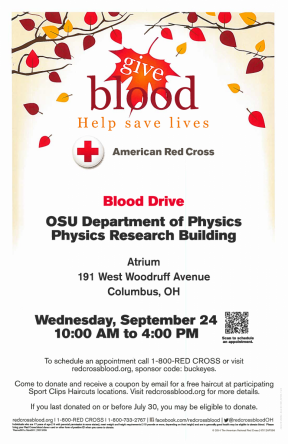 Sept 24 Red Cross Blood Drive